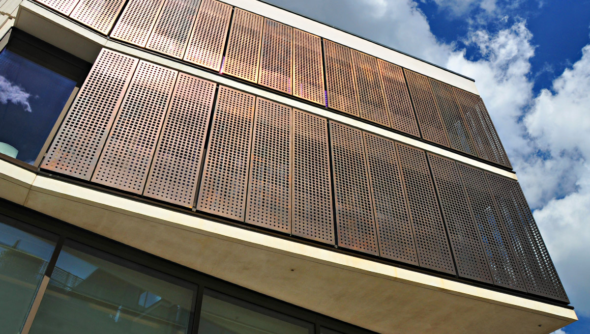 Perforated Copper Cladding