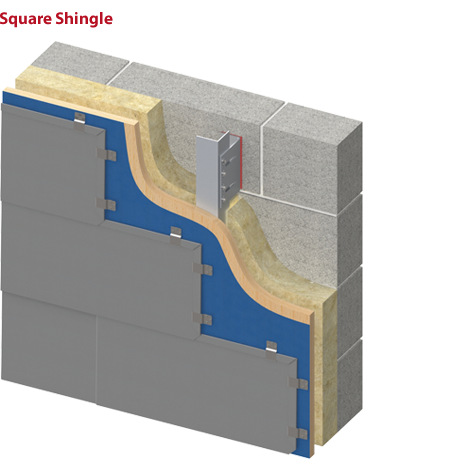 Square or Rectangular Shape Shingle
