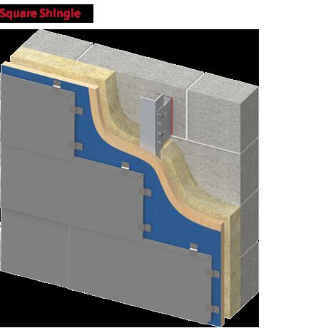 Square or Rectangular Shape Shingle