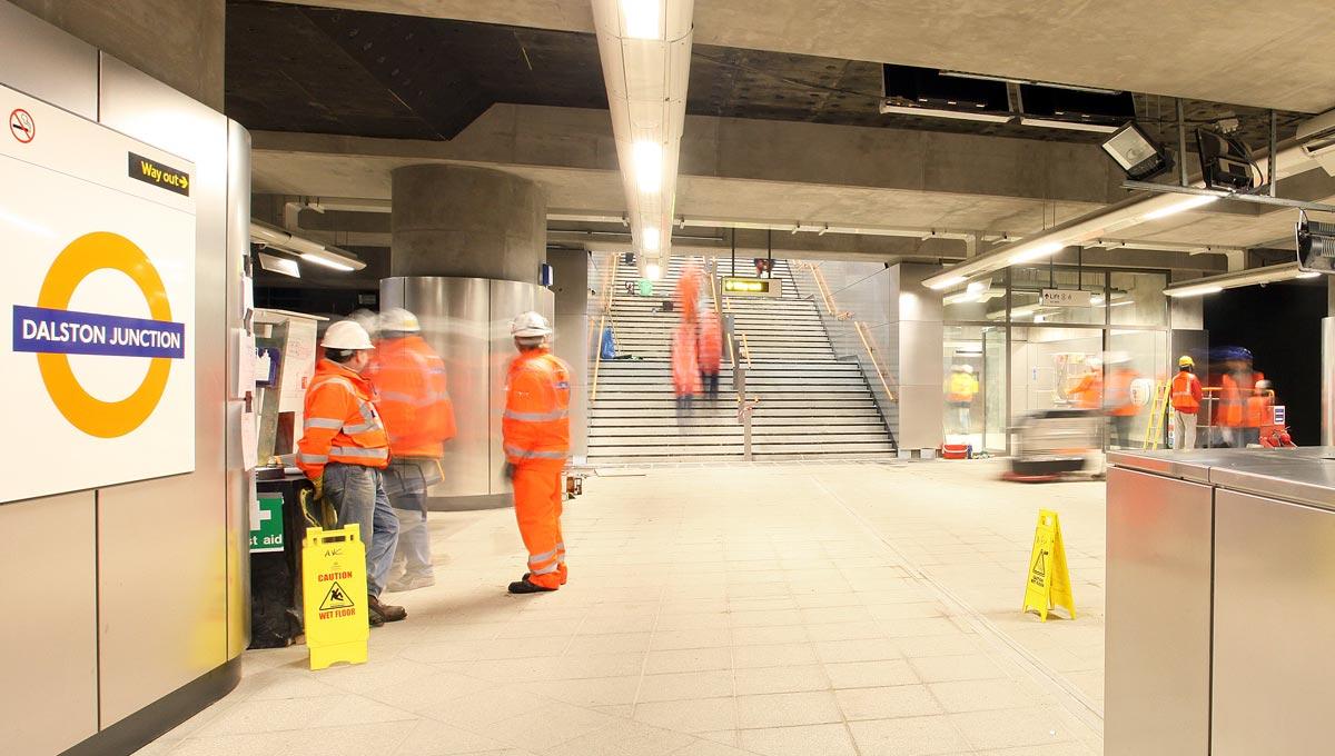London Underground Stainless Steel Cladding