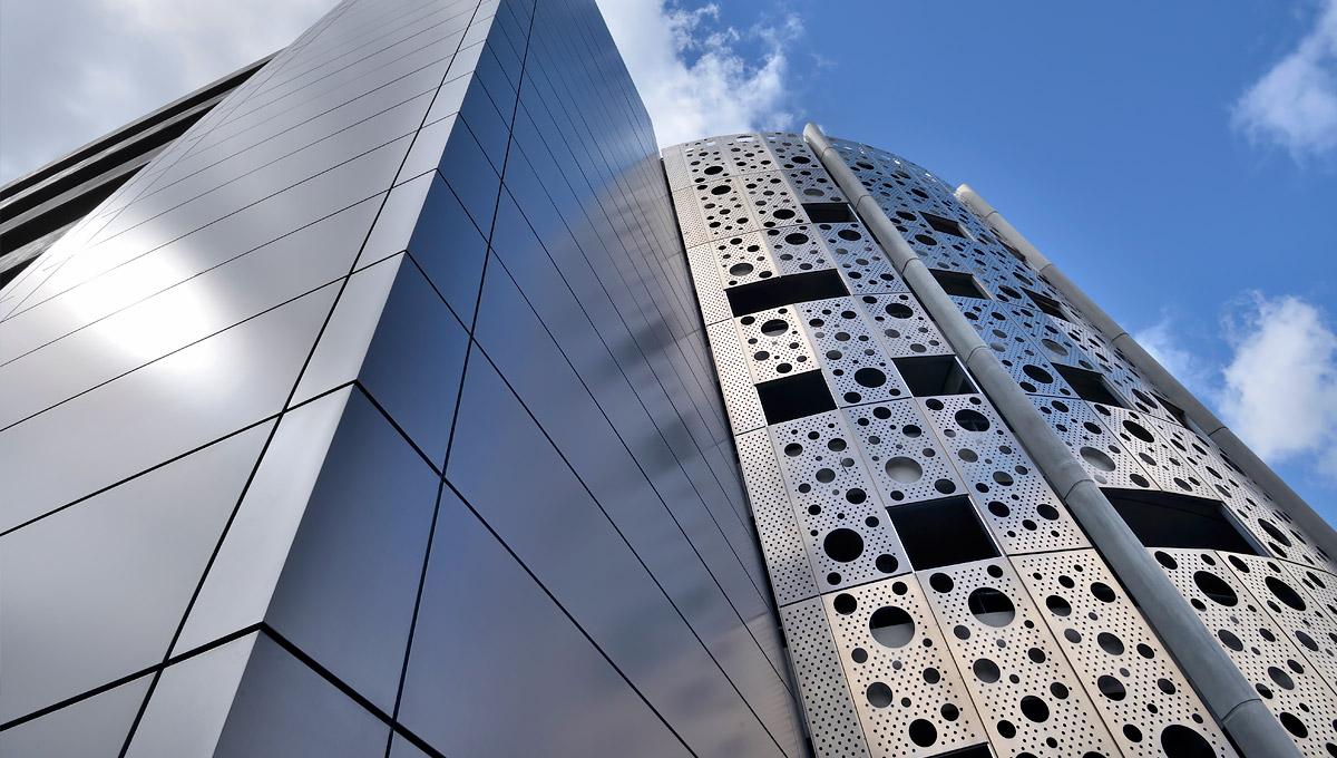 Secc Car Park Glasgow Aluminium Perforated Steel Metal