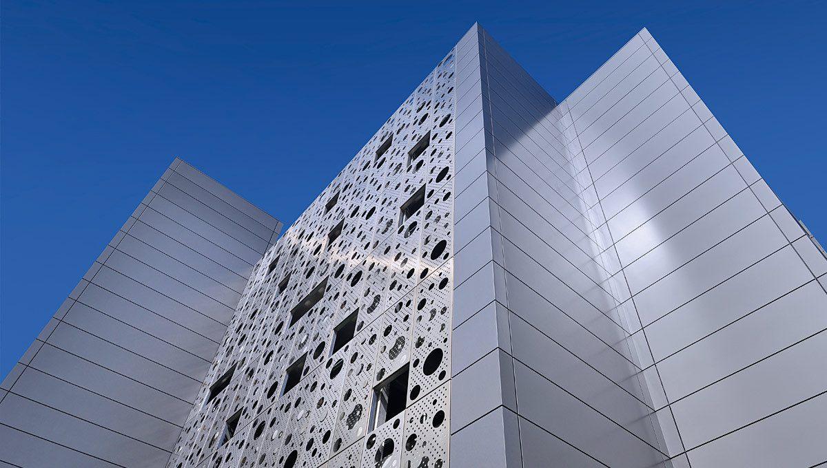 Secc hydro arena car park glasgow proteus facades